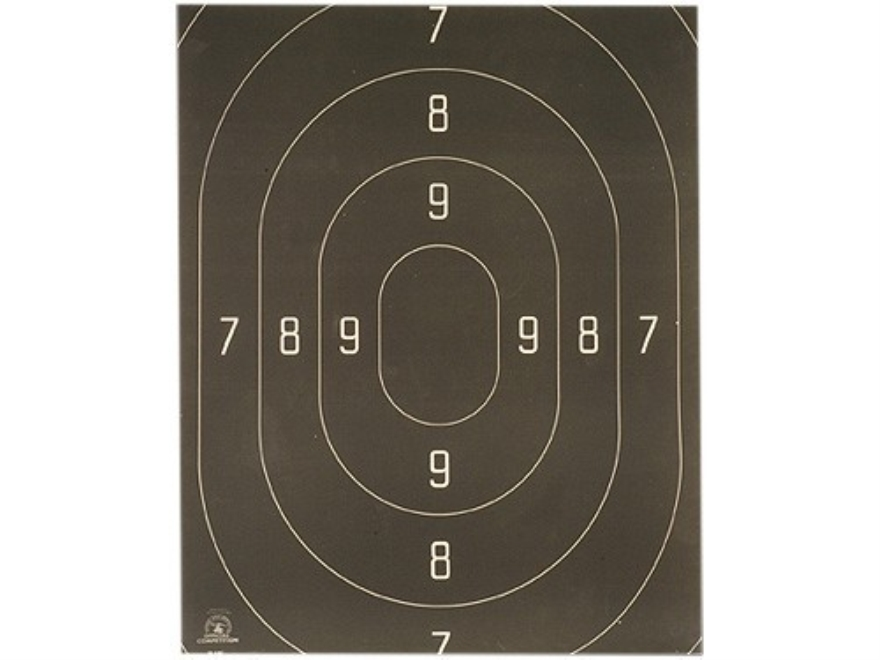 NRA Official Action Pistol Targets Repair Center B-18C 50 Yard Rapid Fire Paper Package...