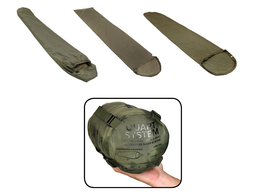 Snugpak Quart All Temperature Sleeping Bag System Nylon