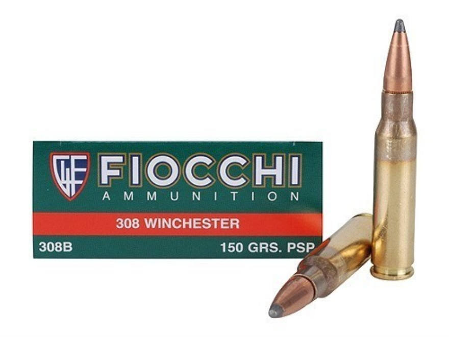 Fiocchi Shooting Dynamics Ammunition 308 Winchester 150 Grain Pointed Soft Point Box of 20