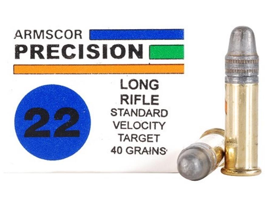 Armscor Target Ammunition 22 Long Rifle 40 Grain Lead Round Nose