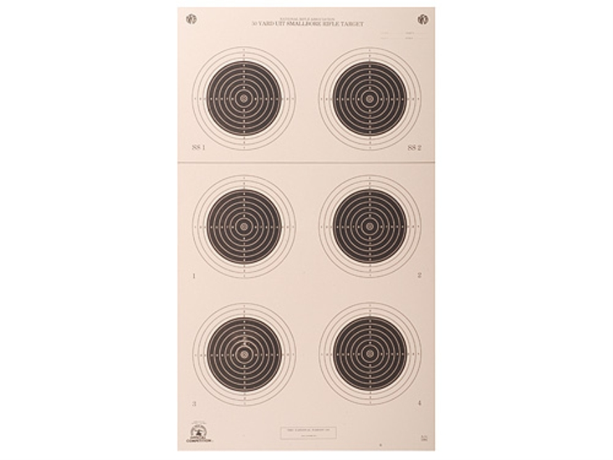 NRA Official Smallbore Rifle Targets A-51 50-Yard UIT Paper Pack of 100