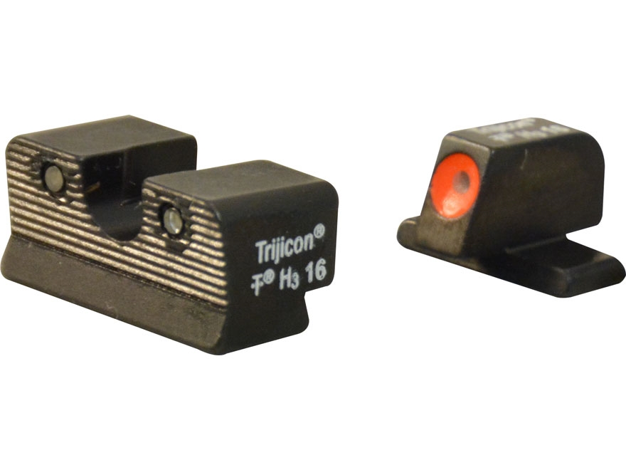 Trijicon HD Night Sight Set Sig P220, P229 Steel Matte 3-Dot Tritium Green with Front D...