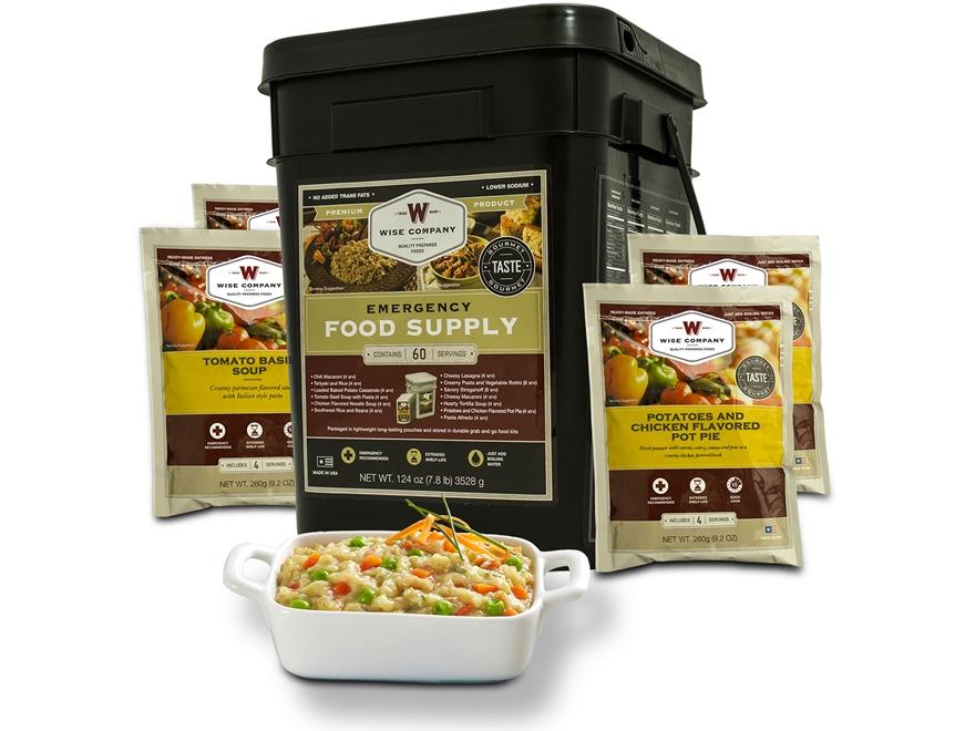 Wise Food 60 Serving Entree Grab N' Go Freeze Dried Food Kit