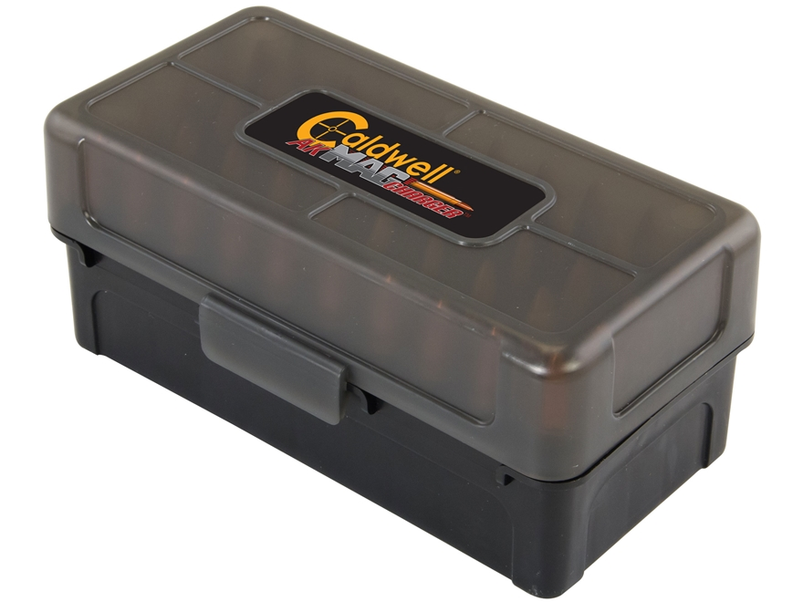 Caldwell AK Mag Charger Flip-Top Ammo Box 7.62x39mm 50-Round Plastic Black and Smoke 5 ...