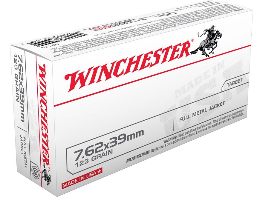Winchester USA Ammunition 7.62x39mm 123 Grain Full Metal Jacket