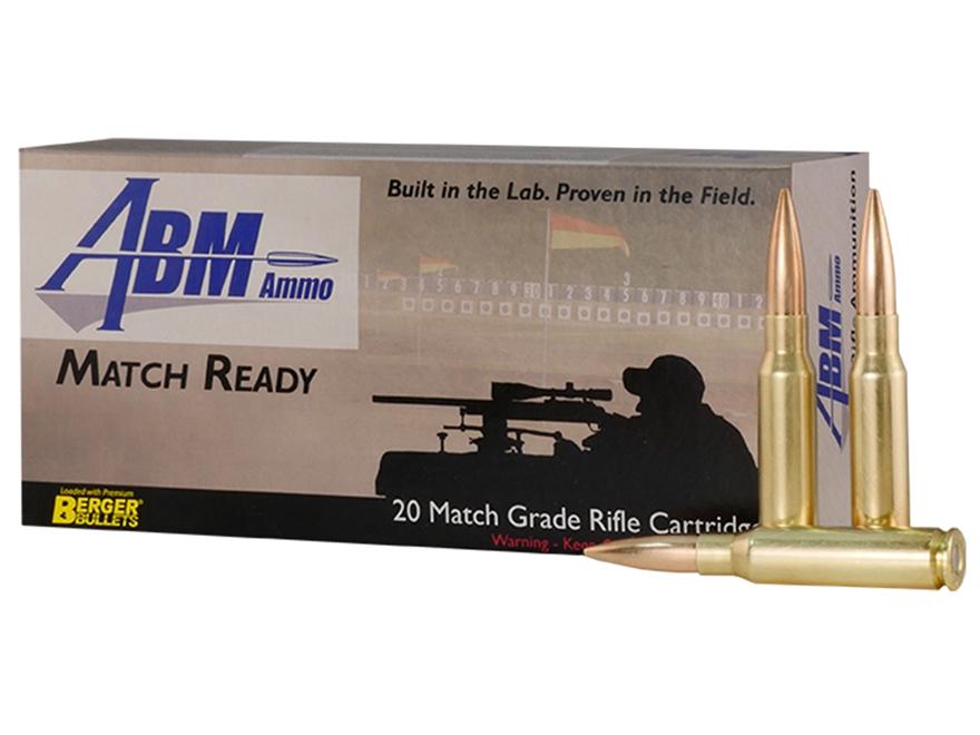 ABM Match Ready-Target Ammunition 308 Winchester 185 Grain Berger Match Juggernaut Targ...