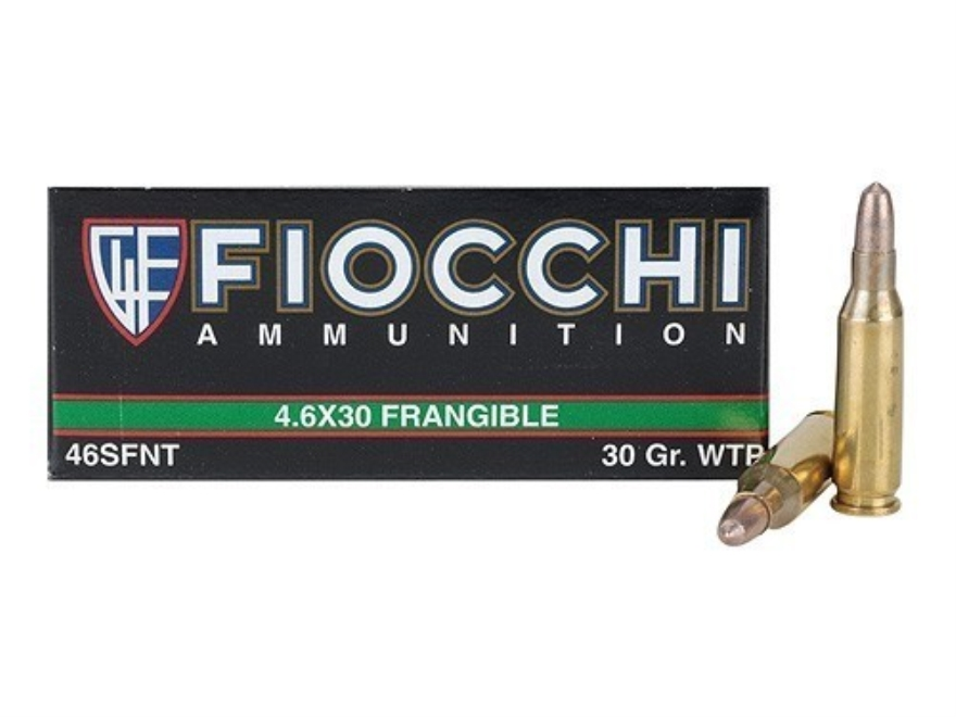 Fiocchi Frangible Ammunition 4.6x30mm HK 30 Grain Sinterfire Wide Taper Point Lead-Free...
