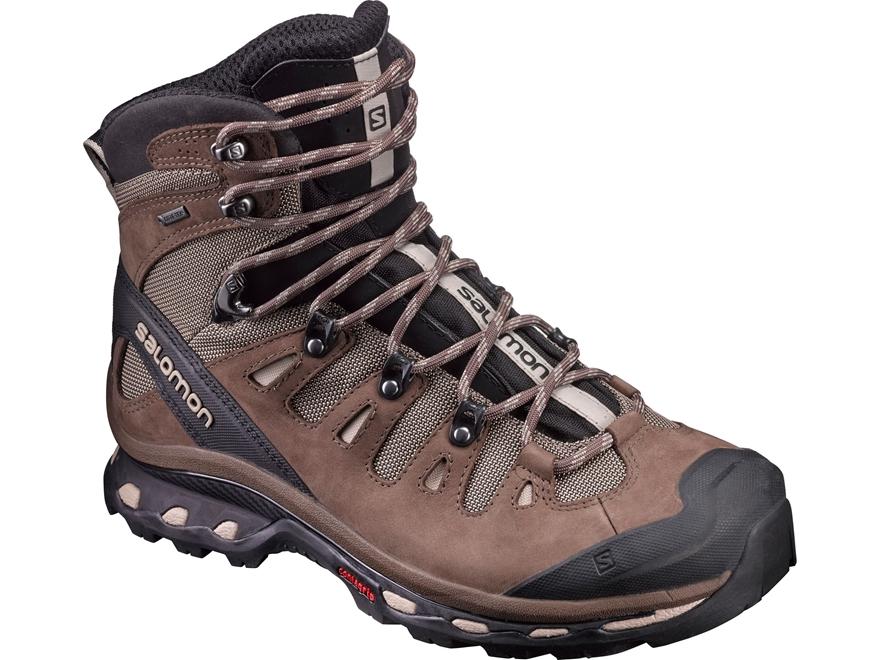 "Salomon Quest 4D 2 GTX 6"" Waterproof Hiking Boots Synthetic Fossil/Rain Drum/Humus Men's"
