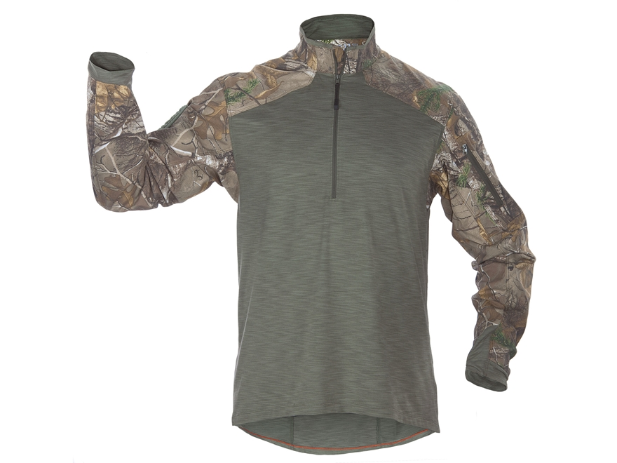 5.11 Men's Realtree Rapid Response 1/4 Zip Shirt Long Sleeve Synthetic Blend Realtree X...
