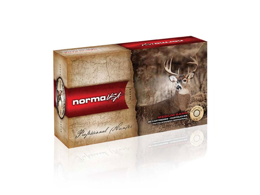 Norma USA American PH Ammunition 7.65mm Argentine Mauser 174 Grain Soft Point Box of 20