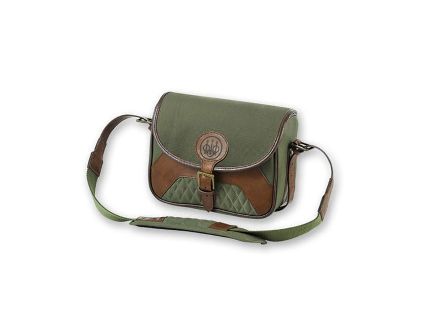 Beretta B1 Signature Small Range Bag 3 Box Canvas/Leather Loden Green/Brown