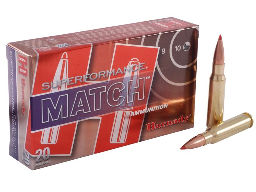 Hornady Superformance Match Ammunition 308 Winchester 168 Grain A-Max Match Box of 20