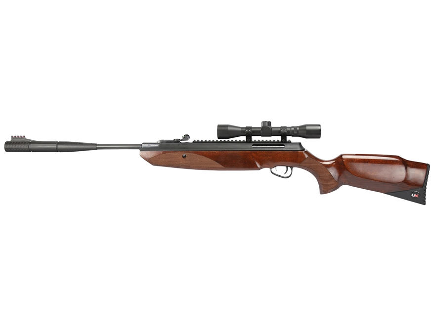 Umarex Forge Break Barrel Air Rifle 177 Caliber Pellet Brown Wood Stock with Scope 4x 3...
