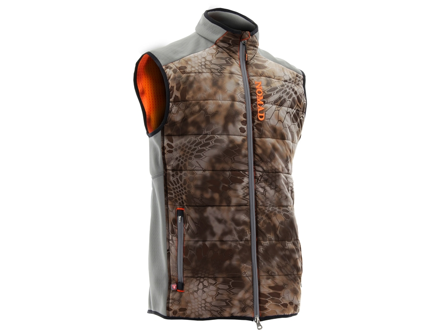 NOMAD Men's Dunn Insulated Vest Polyester and Primaloft Kryptek Banshee Camo Medium