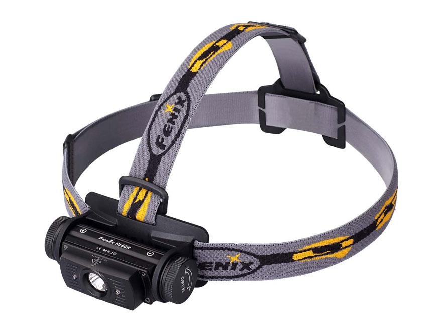 Fenix HL60R Headlamp LED with USB Rechargeable 2600 mAh Li-ion Battery Aluminum Black