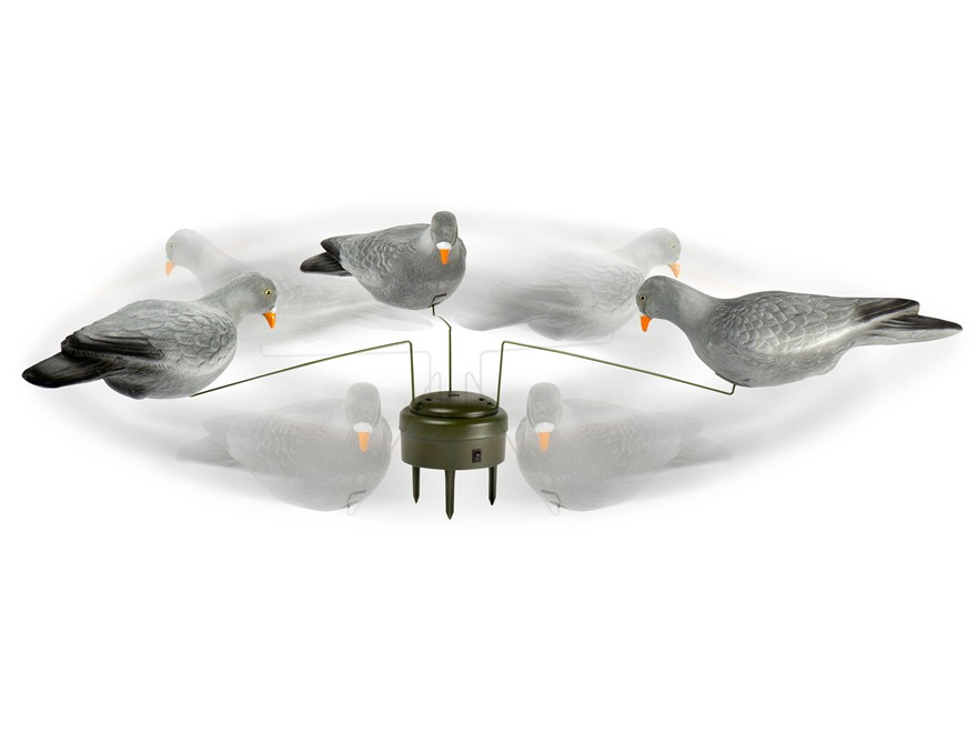 Lucky Duck Triple Play Flocked Motion Pigeon Decoy