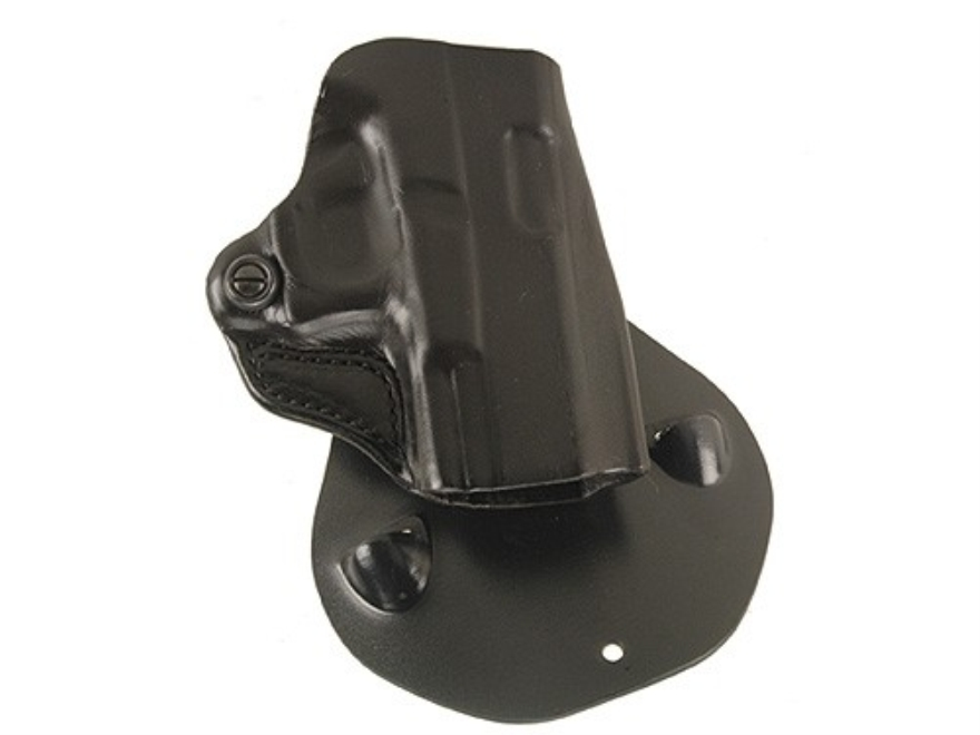 DeSantis Top Cop Paddle Holster Right Hand Glock 26, 27 Leather Black