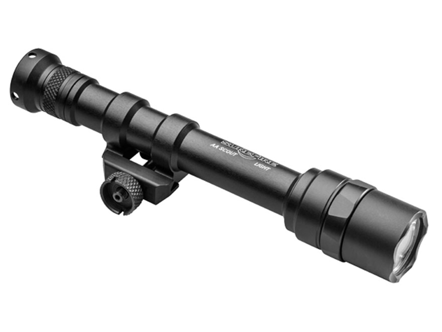 Surefire M600AA Scout Light Weapon Light LED with 2 AA Batteries Aluminum Black