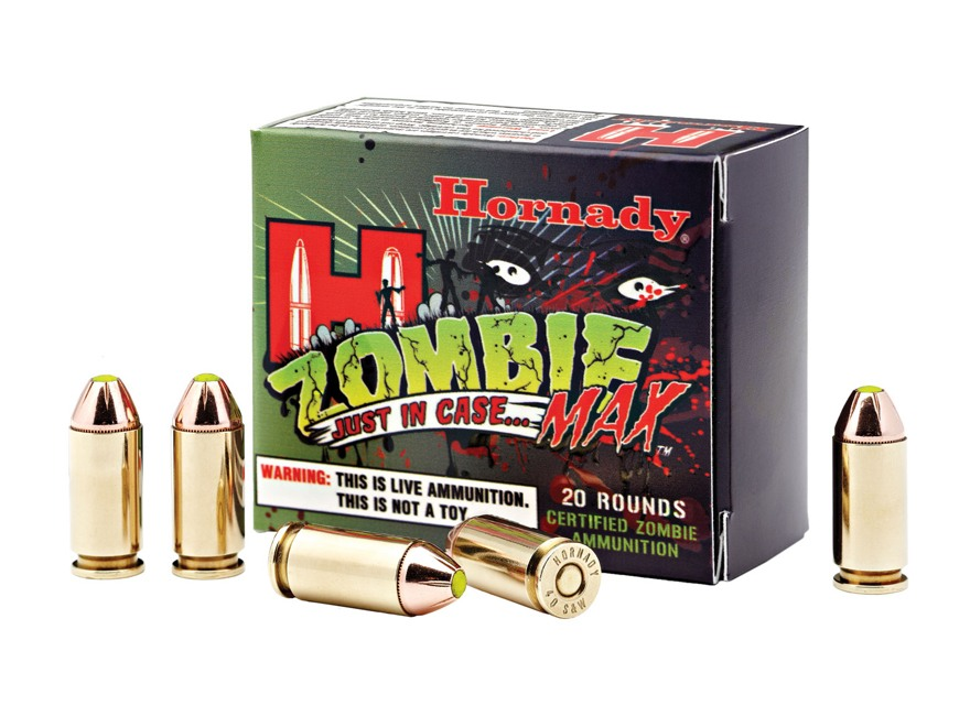 Hornady Zombie Max Ammunition 40 S&W 165 Grain Z-Max Flex Tip eXpanding Box of 20