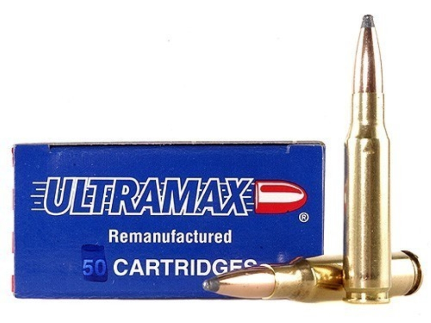 Ultramax Remanufactured Ammunition 308 Winchester 165 Grain Soft Point Box of 100