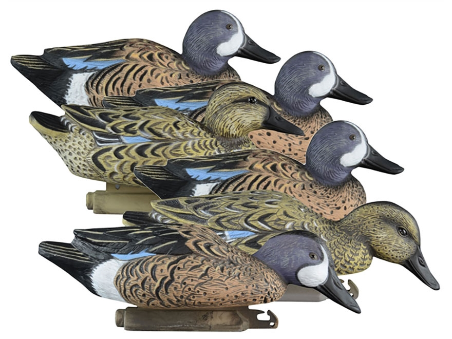 Higdon Standard Foam Filled Blue Wing Teal Duck Decoy Polymer Pack of 6