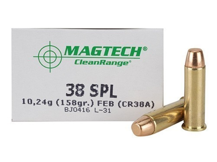 Magtech Clean Range Ammunition 38 Special 158 Grain Encapsulated Flat Nose Box of 50