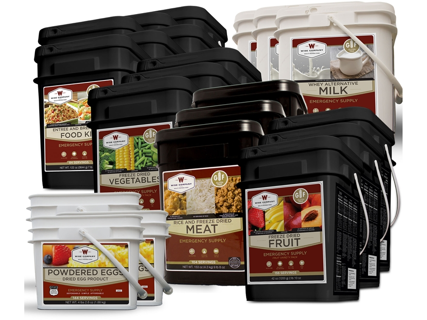 Wise Food 6 Month Gluten Free Ultimate Freeze Dried Food Kit