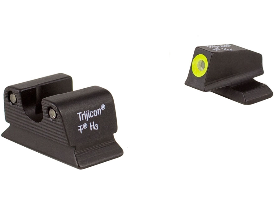 Trijicon HD Night Sight Set Beretta PX4 Storm Steel Matte 3-Dot Tritium Green with Fron...