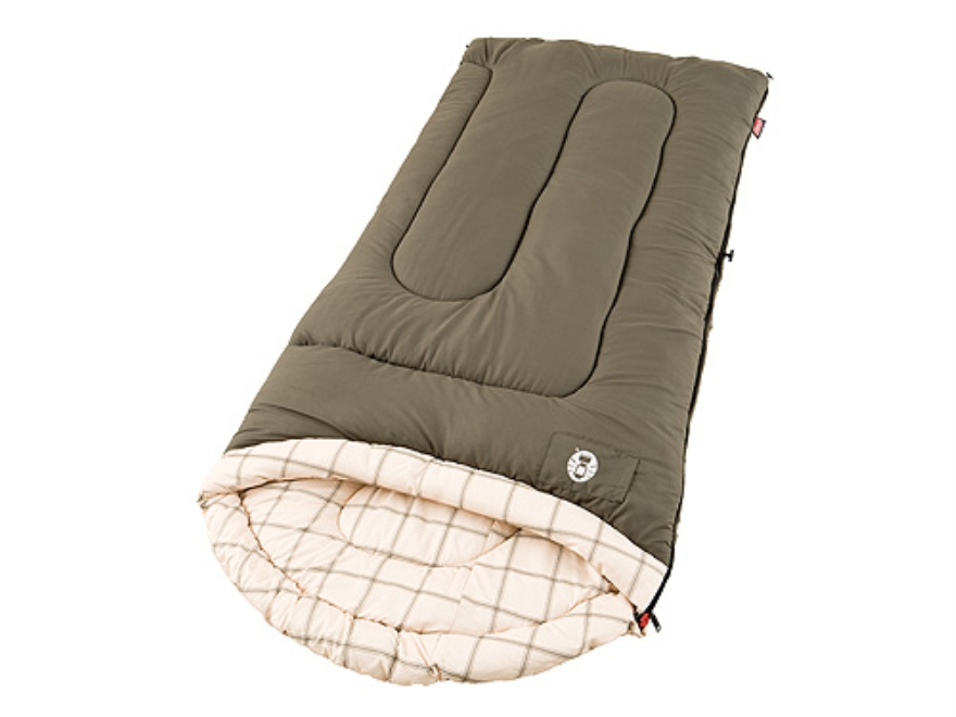 "Coleman Calgary Cold Weather 20-40 Degree Sleeping Bag 33"" x 78"" Brushed Polyester Oliv..."
