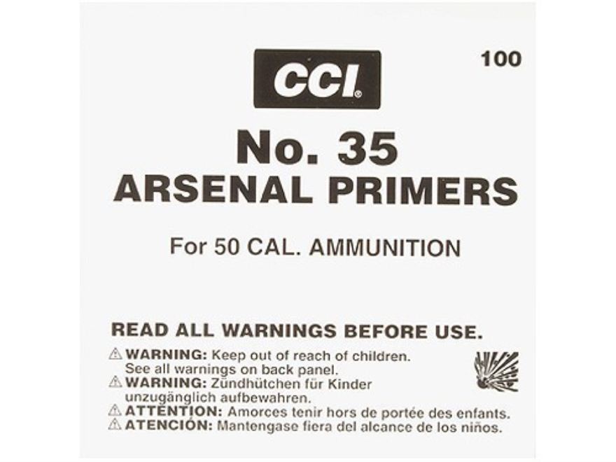 CCI 50 BMG Primers #35