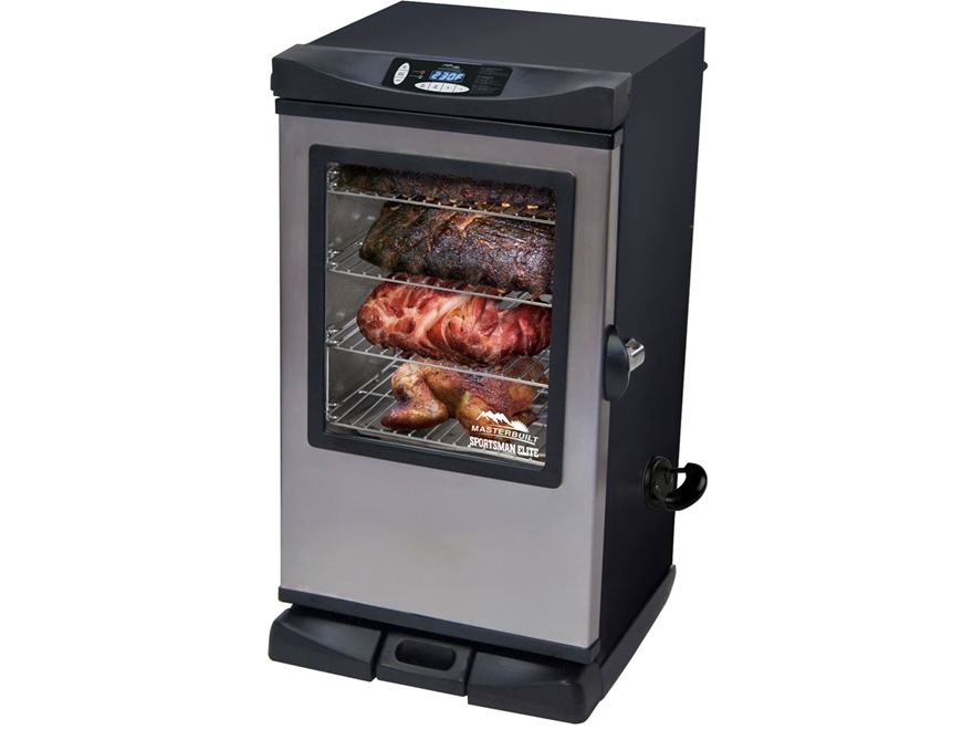 "Masterbuilt Sportsman Elite Stainless Steel 30"" Electric Smoker with RF Remote and Window"