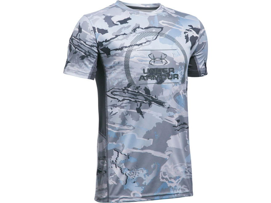 Under Armour Youth UA Fish Hunter Tech Shirt Short Sleeve Polyester
