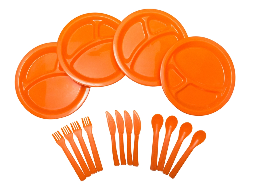 UST 16 Piece Picnic Set Polymer Orange