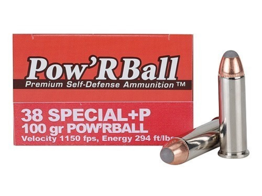 Glaser Pow'RBall Ammunition 38 Special +P 100 Grain Box of 20