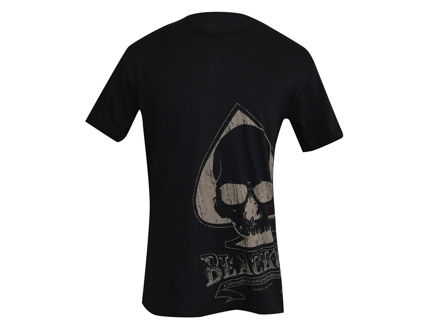 Advanced Armament Co (AAC) Blackout Spade Sideprint T-Shirt Short Sleeve Cotton Black XL