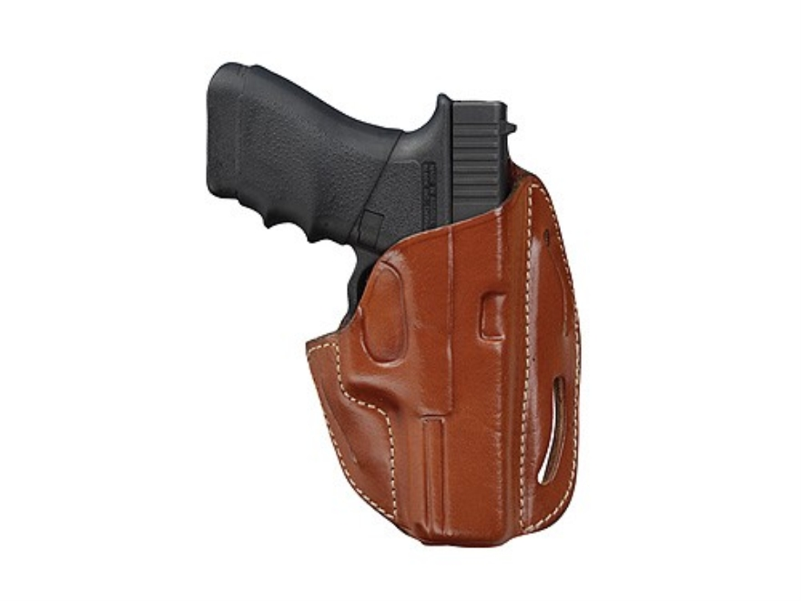 Hunter 2800 3-Slot Pancake Holster Right Hand Glock 17, 22 Leather Brown