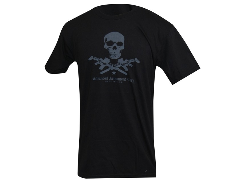 Advanced Armament Co (AAC) X-Guns Logo T-Shirt Short Sleeve Cotton Black Medium