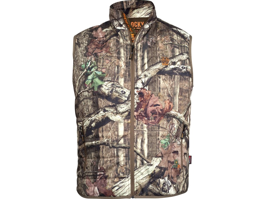 Rocky Men's L2 PrimaLoft Insulated Vest Polyester Mossy Oak Break-Up Infinity Camo Larg...