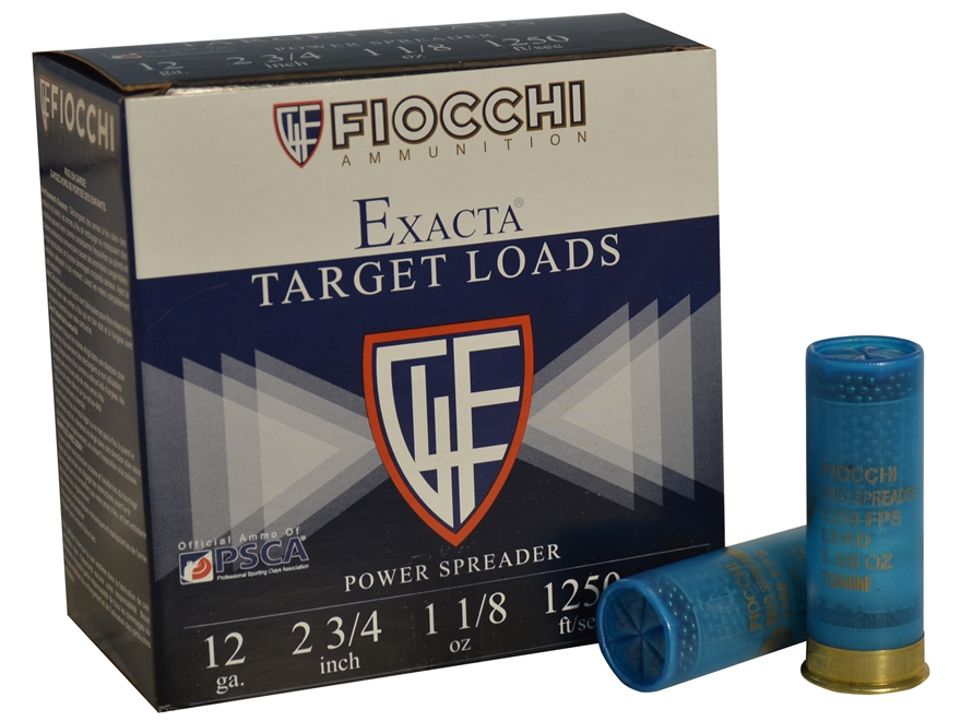 "Fiocchi Exacta Power Spreader Ammunition 12 Gauge 2-3/4"" 1-1/8 oz #8 Shot"