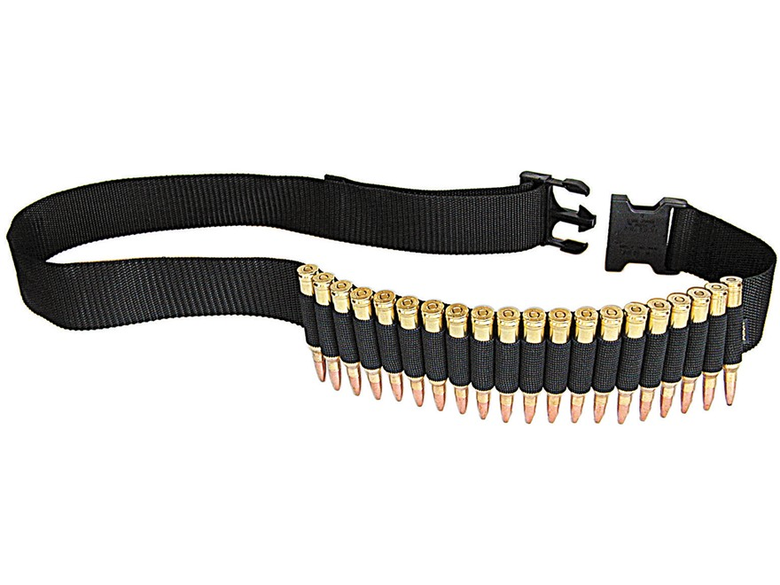 Allen Ammo Belt Adjustable Rifle Ammunition Carrier 20-Round Nylon Black