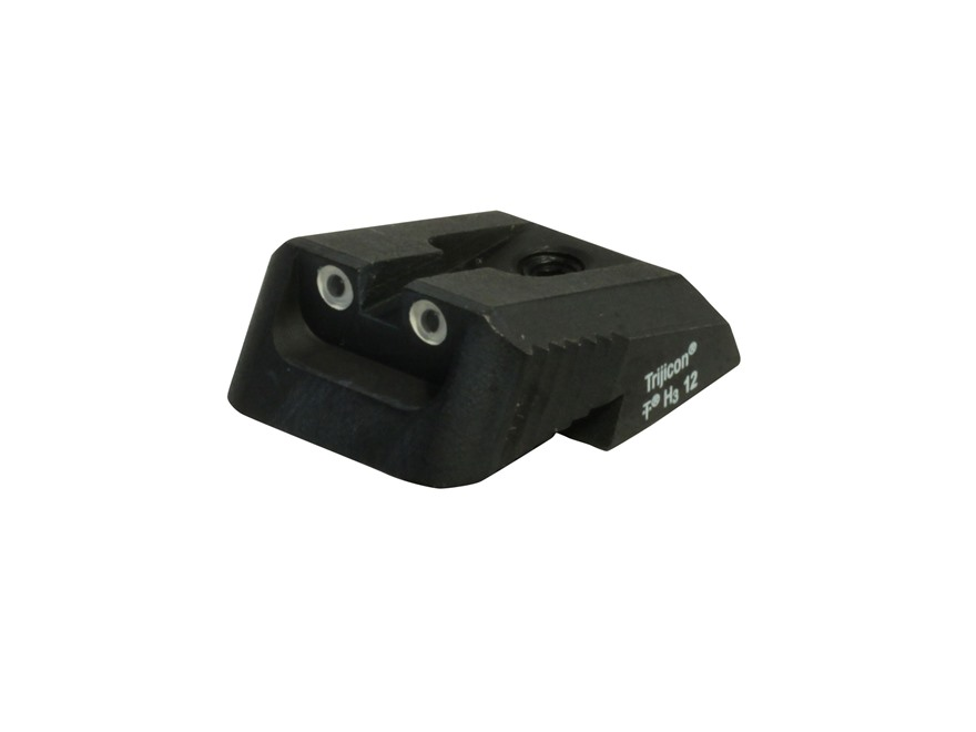 Ed Brown Rear Night Sight Fixed Low Profile 2 Dot Steel Black