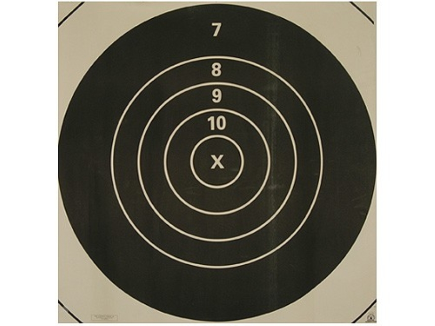 NRA Official High Power Rifle Targets Repair Center MR-1C 600 Yard Slow Fire Paper Pack...