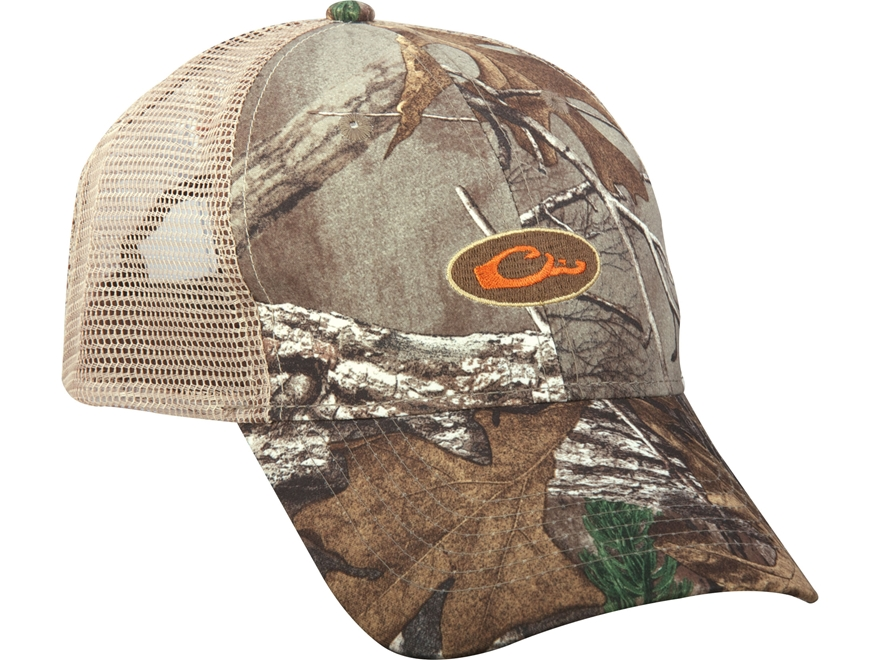 Drake Non-Typical Men's Mesh-Back Camo Logo Cap Polyester