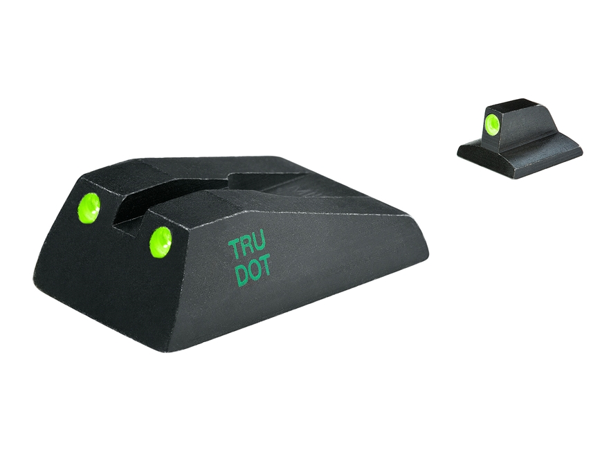 Meprolight Tru-Dot Sight Set Ruger SR9, SR9C, SR40, SR40C Steel Blue Tritium Green