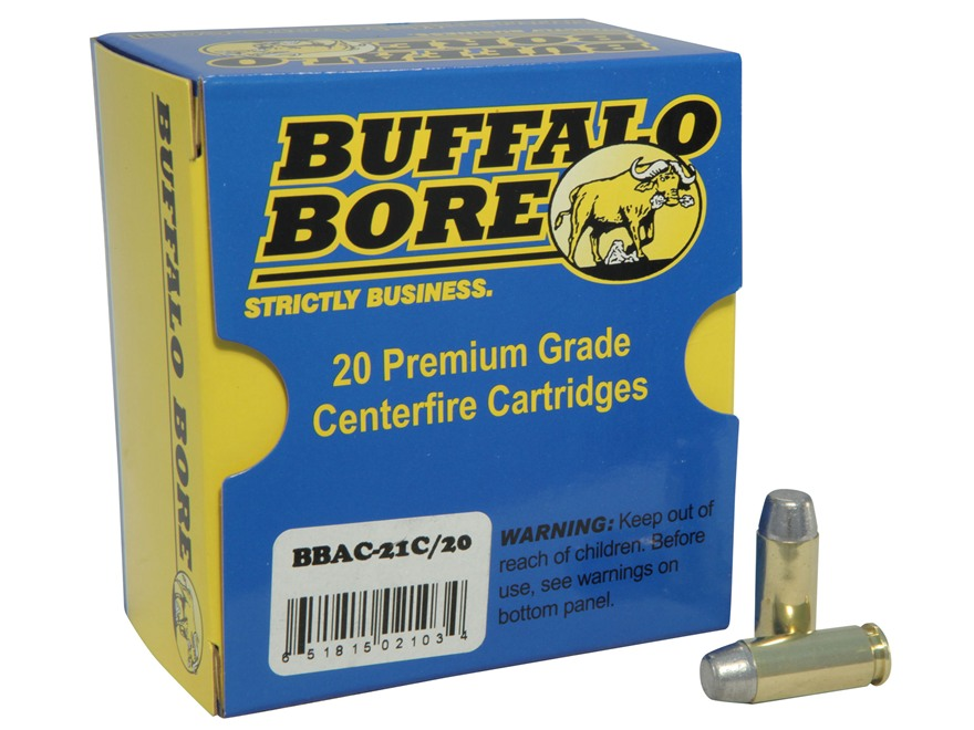 Buffalo Bore Ammunition 10mm Auto 220 Grain Hard Cast Lead Flat Nose Box of 20