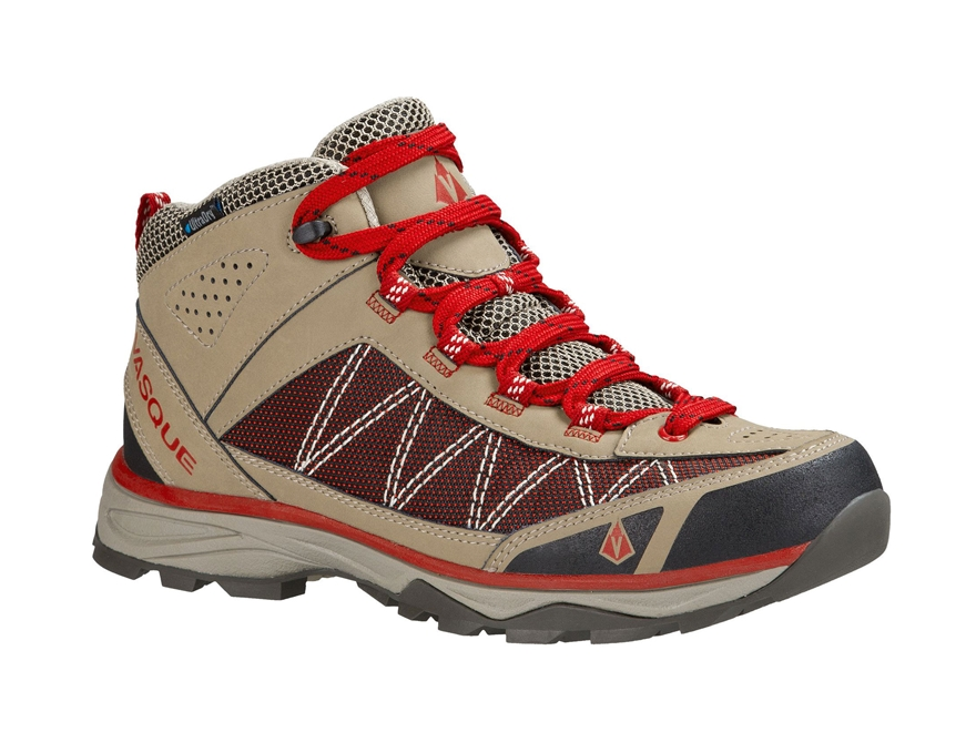 "Vasque Monolith UltraDry 5"" Waterproof Hiking Boots Leather and Nylon Brindle and Chili..."