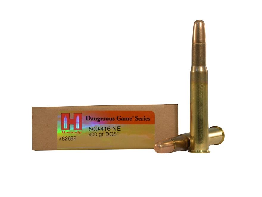 Hornady Dangerous Game Ammunition 500-416 Nitro Express 400 Grain DGS Round Nose Solid ...