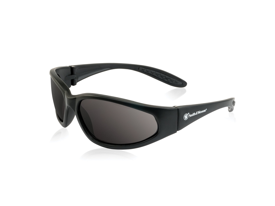 Smith & Wesson Sergeant Shooting Glasses Black Frame Smoke Lens