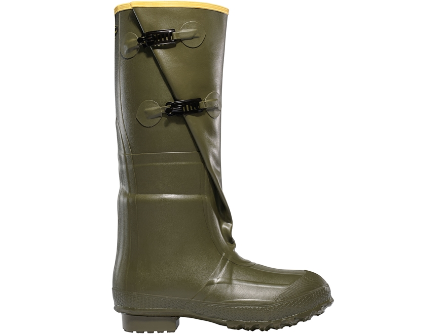 "LaCrosse Insulated 2-Buckle 18"" Waterproof Insulated Work Boots Rubber OD Green Men's"