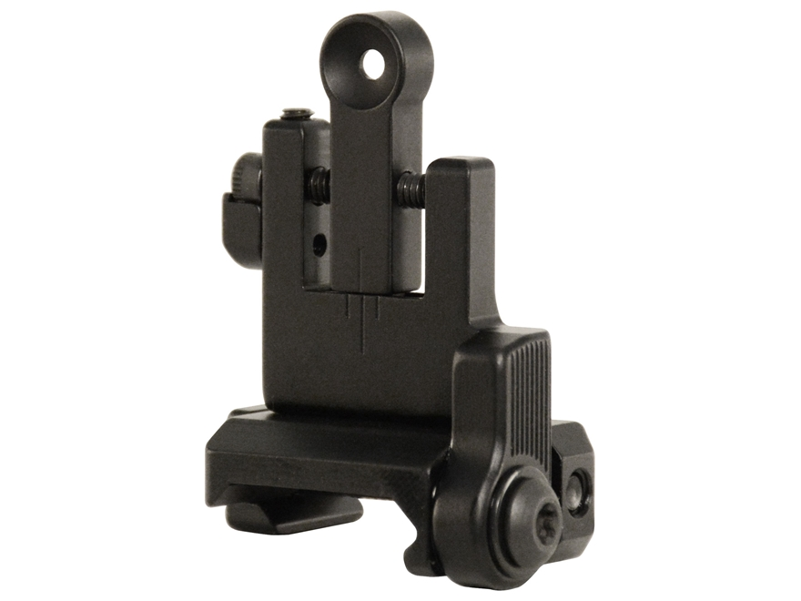 Bobro Lowrider Flip Up Rear Sight AR-15, LR-308 Aluminum Matte